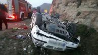 سقوط خونین خودرو سمند از ارتفاع در جاده تنگ شبیخون+ عکس