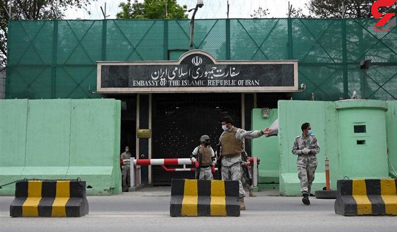اولین عکس ها از اصابت راکت به سفارت ایران در کابل