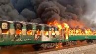 کتری برقی عامل جزغاله شدن 79 مسافر در واگن قطار پاکستان