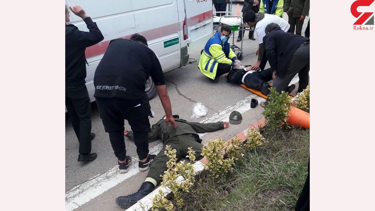 عکس 2 پلیس که از مرد مازندرانی کتک خوردند + جزییات