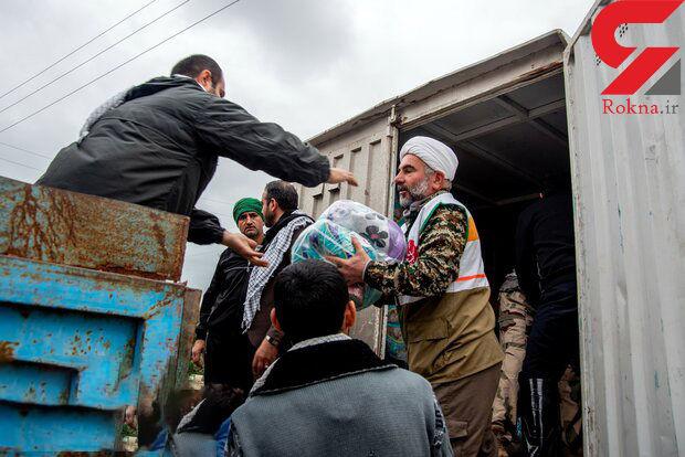 ارسال ۶۲ هزار بسته غذایی به مناطق سیلزده گلستان