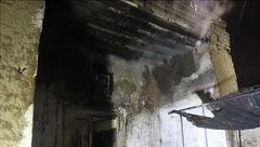 آتش سوزی اتاق مرد نگهبان در محله کن+تصاویر