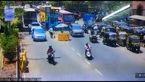 فیلم لحظه فرار قاچاقچی از ایست و بازرسی / او پلیس را زیر گرفت!