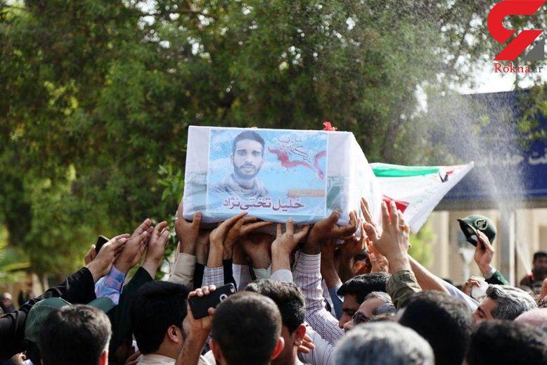 پیکر شهید مدافع حرم در بندرعباس تشییع شد