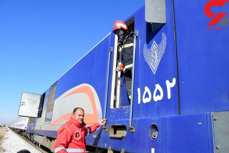 مهار حریق در دیزل قطار مسافربری
