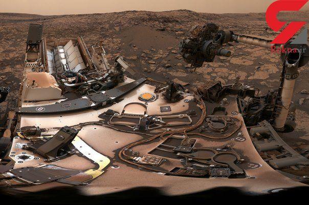 سلفی جالب  کاوشگر کنجکاوی در سیاره سرخ