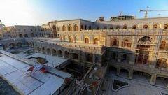 آخرین وضعیت پروژه ساخت صحن حضرت زهرا(س) در حرم امام علی(ع)+تصاویر