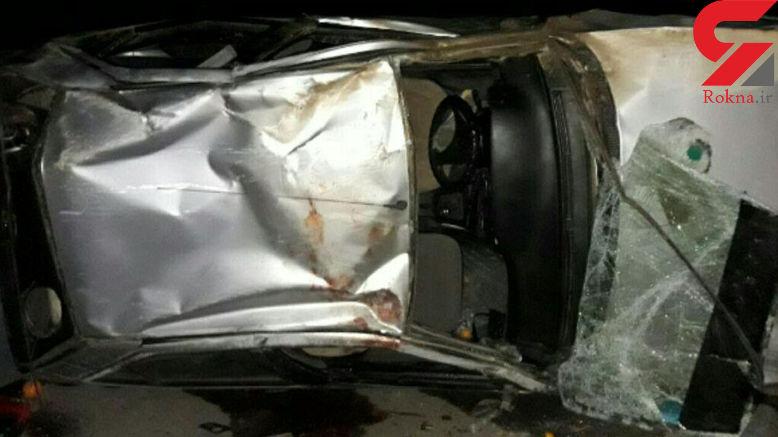 واژگونی مرگبار پژو ۴۰۵ در جاده اسپیران +عکس