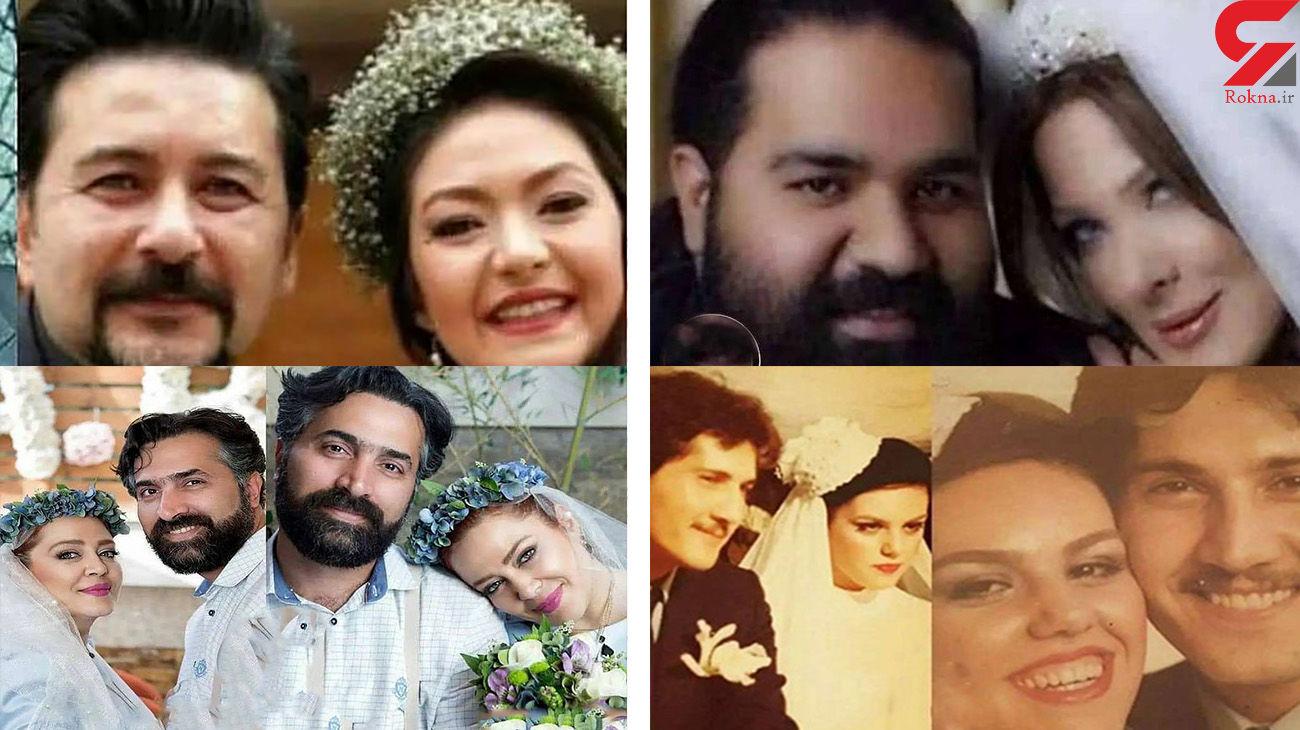 9 عکس دیده نشده از جشن عروسی بازیگران  / از آزاده نامداری تا ارسطوی پایتخت