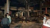 زنده زنده سوختن 8 نفر در آتش سوزی پمپ بنزین تاکستان / 3 خودرو جزغاله شد + عکس