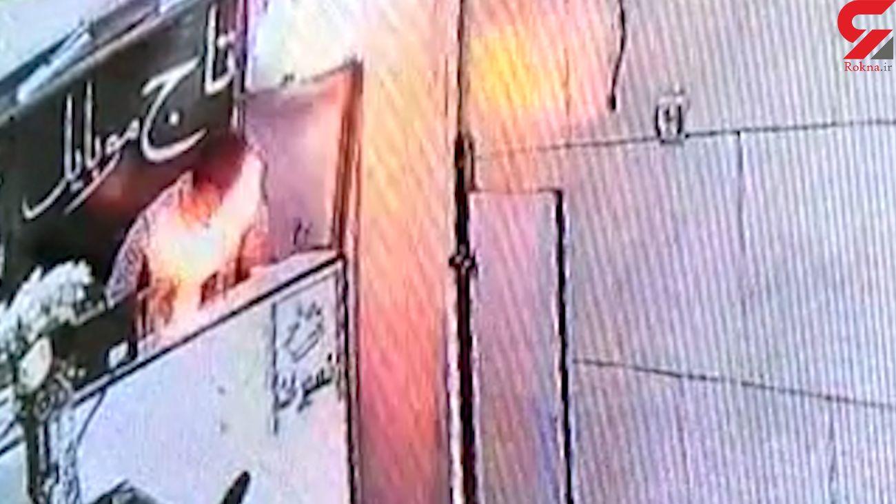 لحظه  انفجار باتری موبایل /در گلستان رخ داد + فیلم