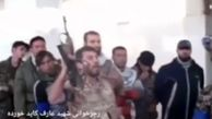 فیلم رجزخوانی یک مدافع حرم در حضور حاج قاسم ساعاتی قبل از شهادت