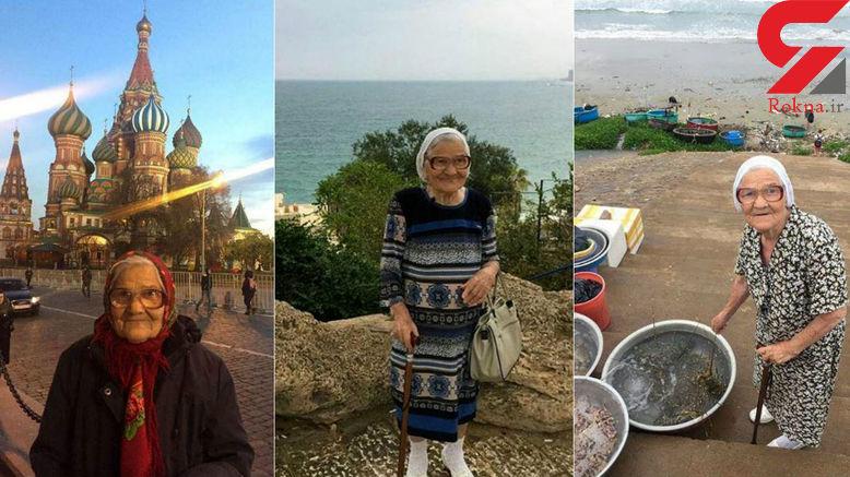 مادربزرگ جهانگرد روس سوژه جدید شبکه های اجتماعی +تصاویر