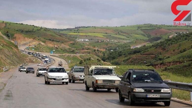 ترافیک نیمه سنگین در محور کرج ـ قزوین و بالعکس