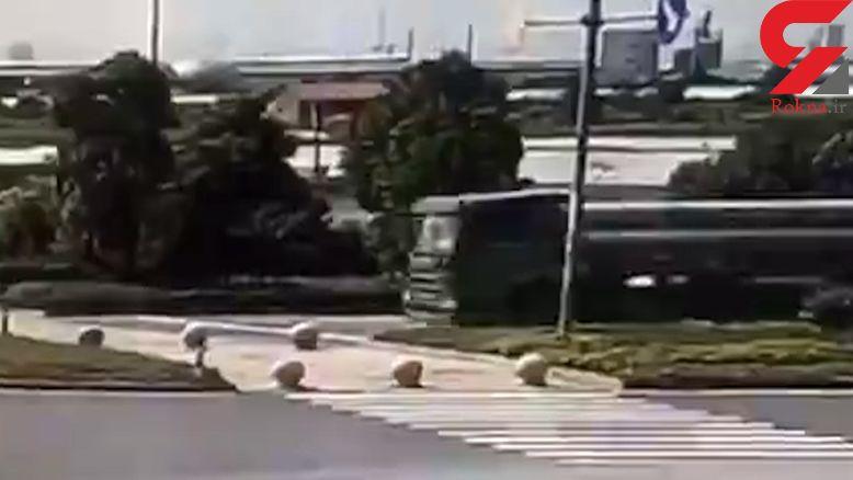 مرگ وحشتناک راننده تریلی با ترمز کردن پشت خط عابر پیاده + فیلم