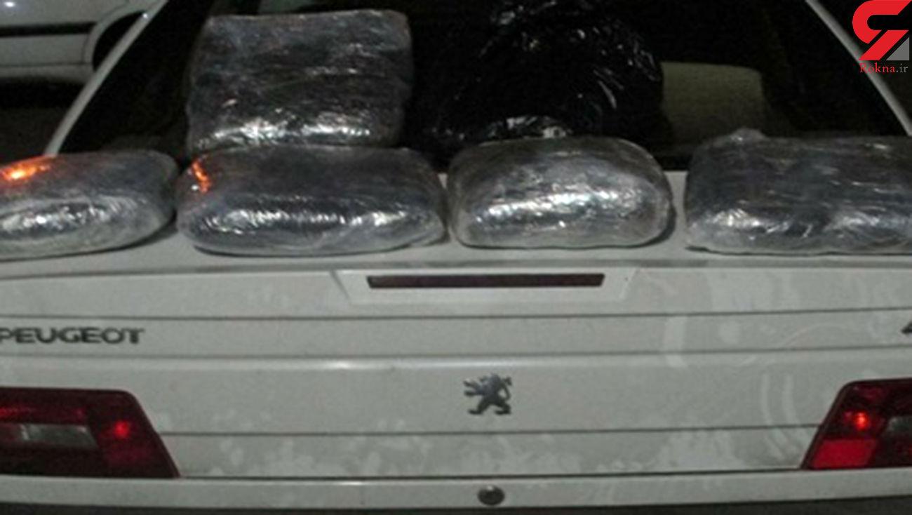 قاچاقچیان ۵۸ کیلو تریاک در انتقال مواد مخدر  ناکام شدند