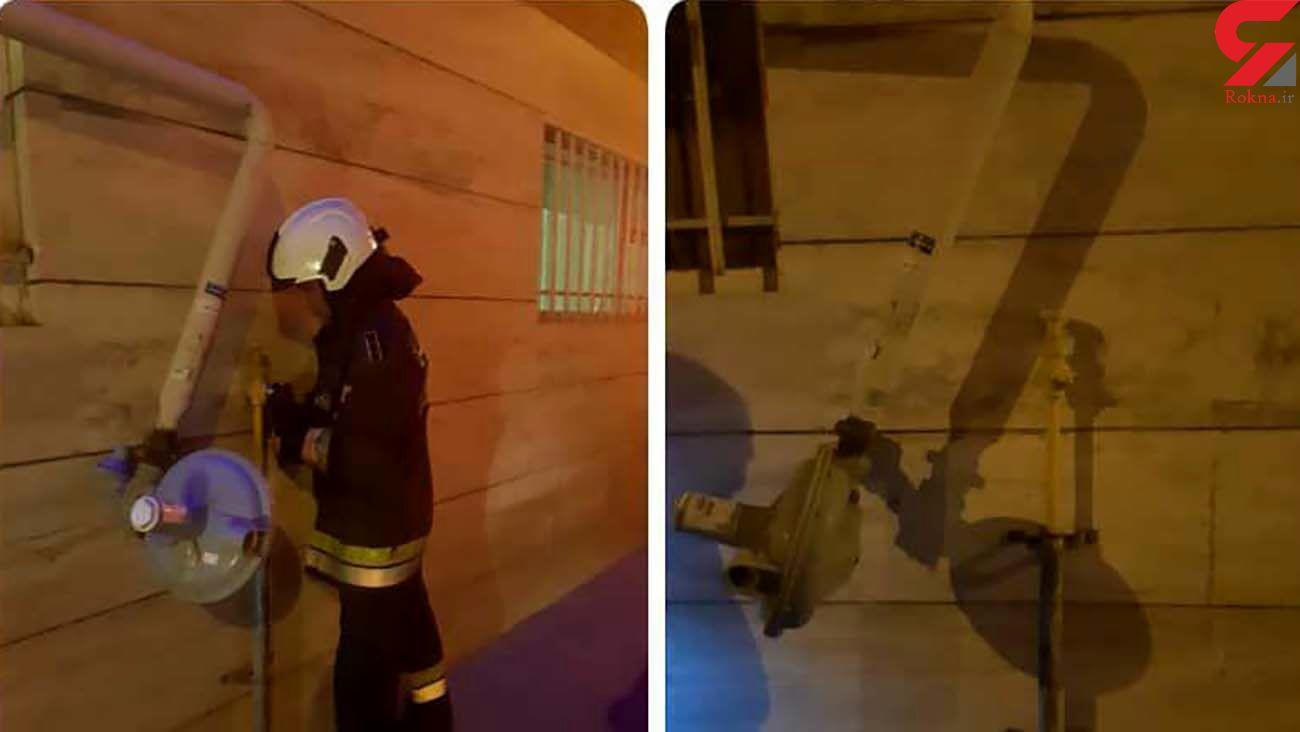 برخورد شدید خودرو با علمک گاز در اصفهان