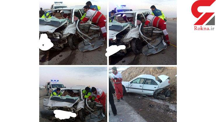 5 کشته و مصدوم در جاده درگز به قوچان+عکس
