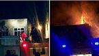آتش سوزی شدید خانه ای در خیابان طالاقانی تبریز+عکس