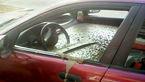 مرد دیوانه برای تنبیه زن خود، ماشینش  را با مَلات سیمانی پر کرد+عکس