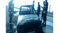 آتش گرفتن یک خودرو در خرمشهر