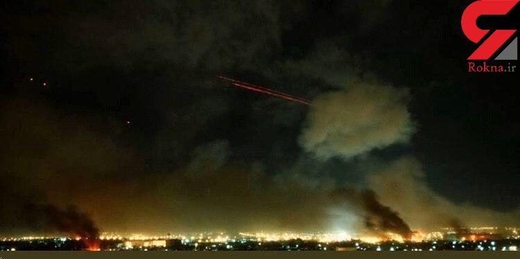 اولین فیلم و عکس از حمله موشکی ایران به پایگاه آمریکایی / آتش آسمان عراق را فرا گرفت