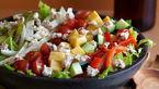 سالاد یونانی پنیری با انگور+دستور تهیه