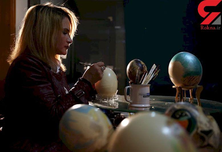 تزئین تخم مرغ این بار به دست یک نقاش هنرمند و تاجر + تصاویر