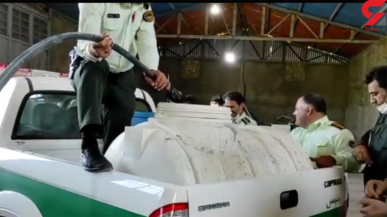 پلیس ایران یک حلقه چاه شراب کشف کرد ! + فیلم