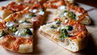 بدون فر پیتزای خانگی بپزید+دستور تهیه