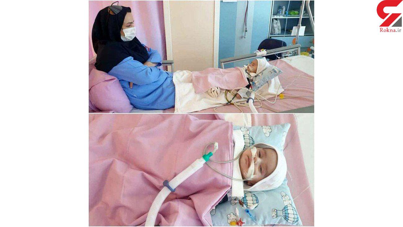 عکس عجیب از مراقبت عاشقانه یک پرستار مشهدی از نوزاد دو ماهه