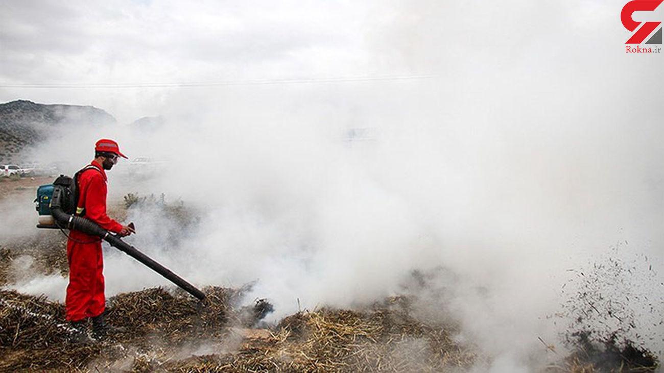 آتش سوزی در 42 هکتار از پوشش گیاهی استان اصفهان