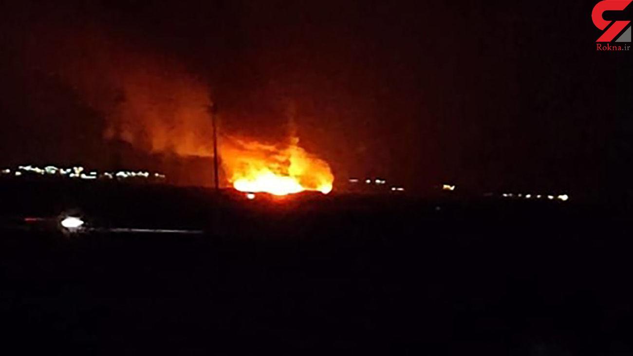 آتش سوزی هولناک در تالاب میانگران ایذه + جزئیات