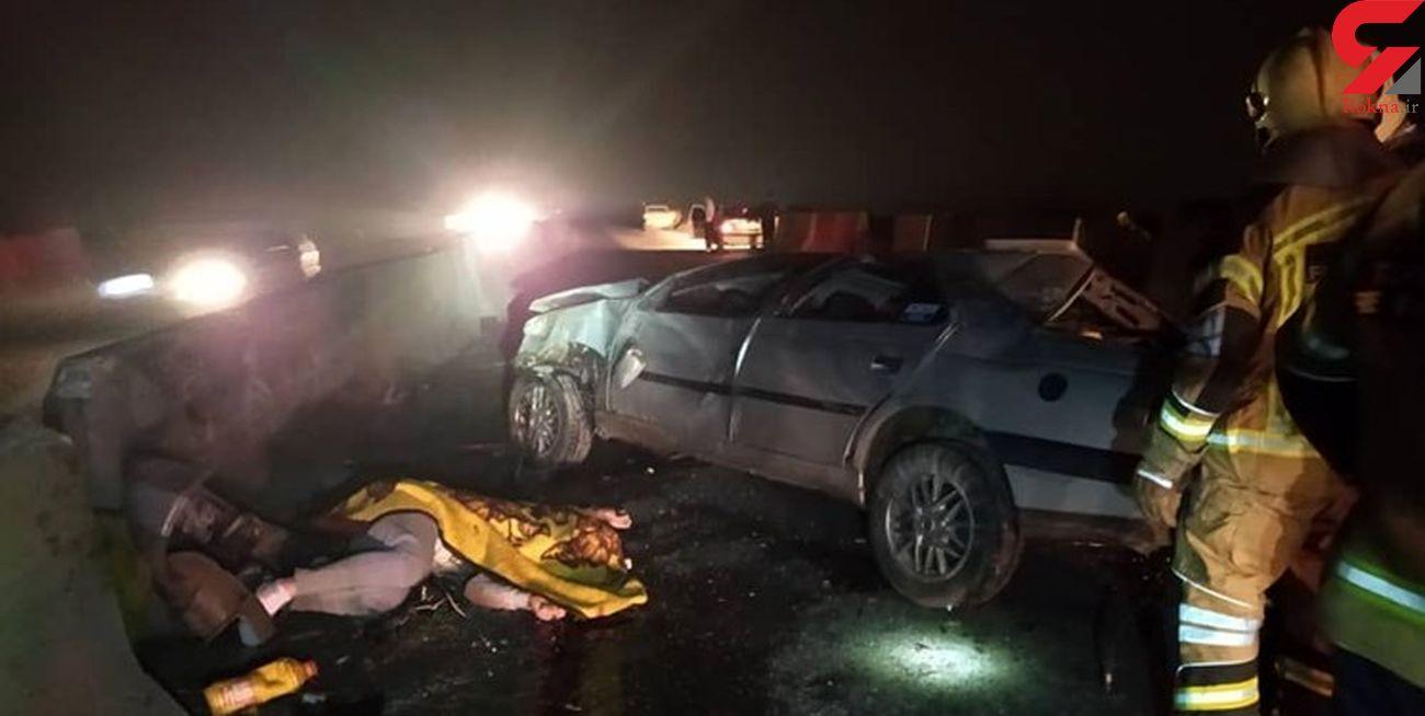 ۲ کشته و ۶ مصدوم در تصادف زنجیرهای جاده قوچان