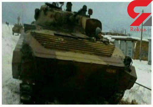اعزام نفربر های ارتش برای کمک به مردم هشترود