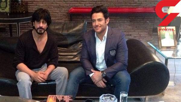 هندی حرف زدن محمدرضا گلزار و گرفتن عکس یادگاری با شاهرخ خان + فیلم