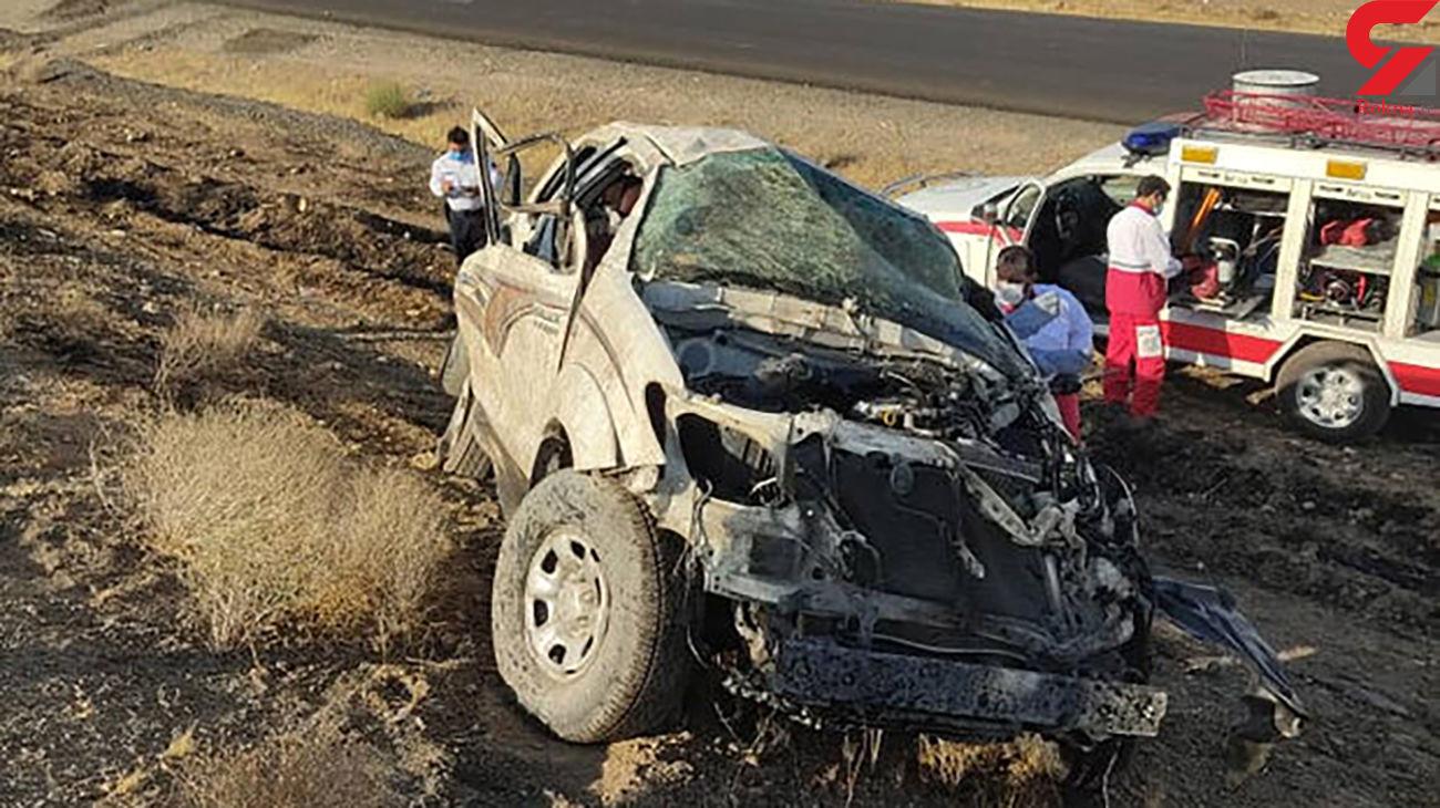 تصادف مرگبار در جاده دلیجان _ اصفهان