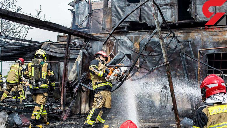آتش سوزی یک واحد تجاری گاز ال پی جی - قزوین