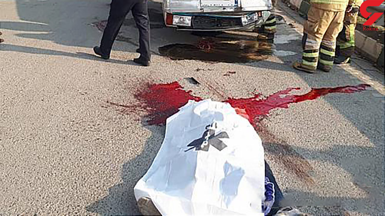 عکس 16+ /  مرگ دلخراش پسر نوجوان تهرانی در  بزرگراه شهید کاظمی