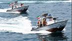 قایقهای تندرو سپاه در تعقیب ناو هواپیمابر آمریکایی