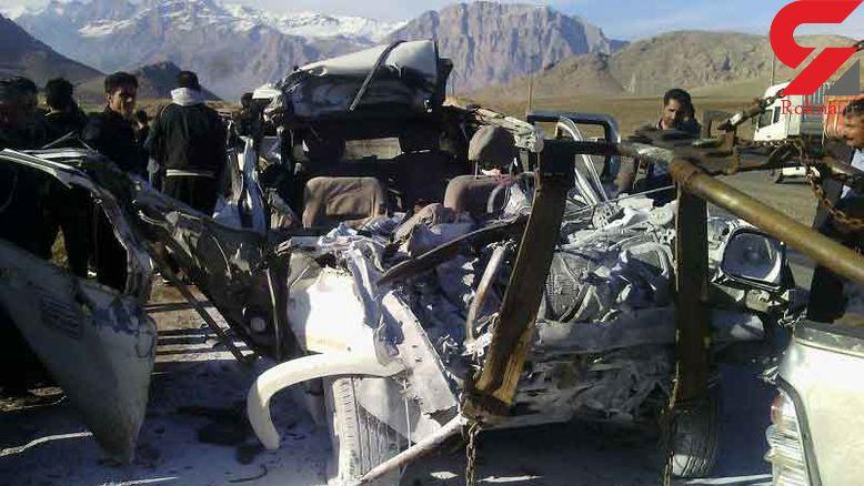 مرگ وحشتناک 3 تن در حادثه رانندگی در جاده هرسین + عکس