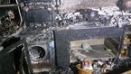 آتش سوزی آشپزخانه یک خانه در غرب تهران + عکس