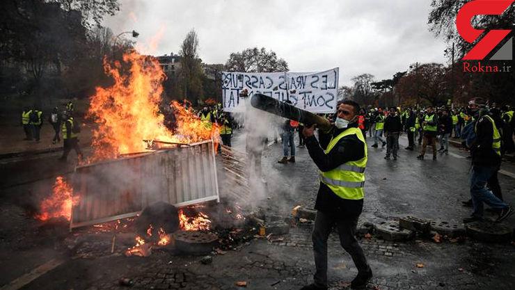 سلاح عجیب جلیقه زردها برای مبارزه با دولت فرانسه +عکس