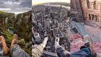 عکس هایی جالب از پای یک عکاس در کنار شگفتی های دنیا