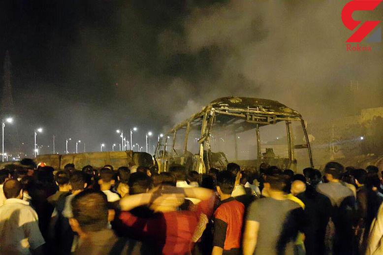 آخرین جزئیات حادثه برخورد تانکر سوخت با اتوبوس در سنندج