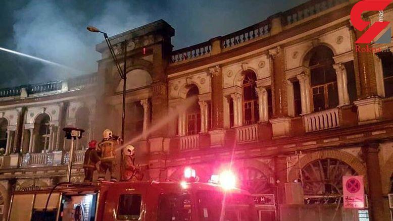علت دیرمهار شدن آتش سوزی بنای تاریخی حسن آباد اعلام شد  +عکس