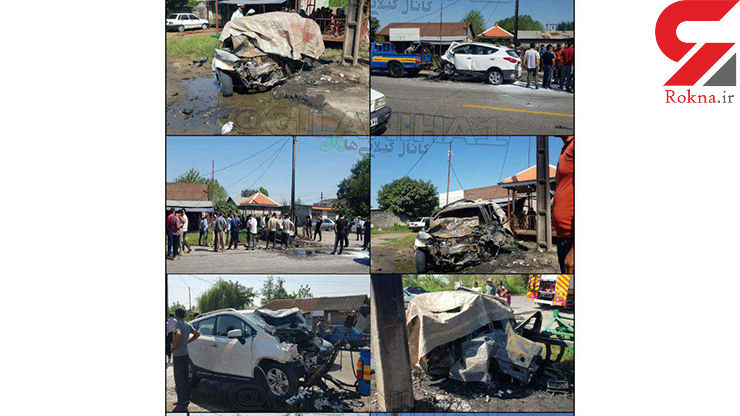 حادثهای وحشتناک که فقط در فیلم های اکشن آن را مشاهده می کنید / در کوچصفهان رخ داد+ عکس