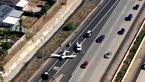 فرود اضطراری هواپیمای تک موتوره در بزرگراه کالیفرنیا