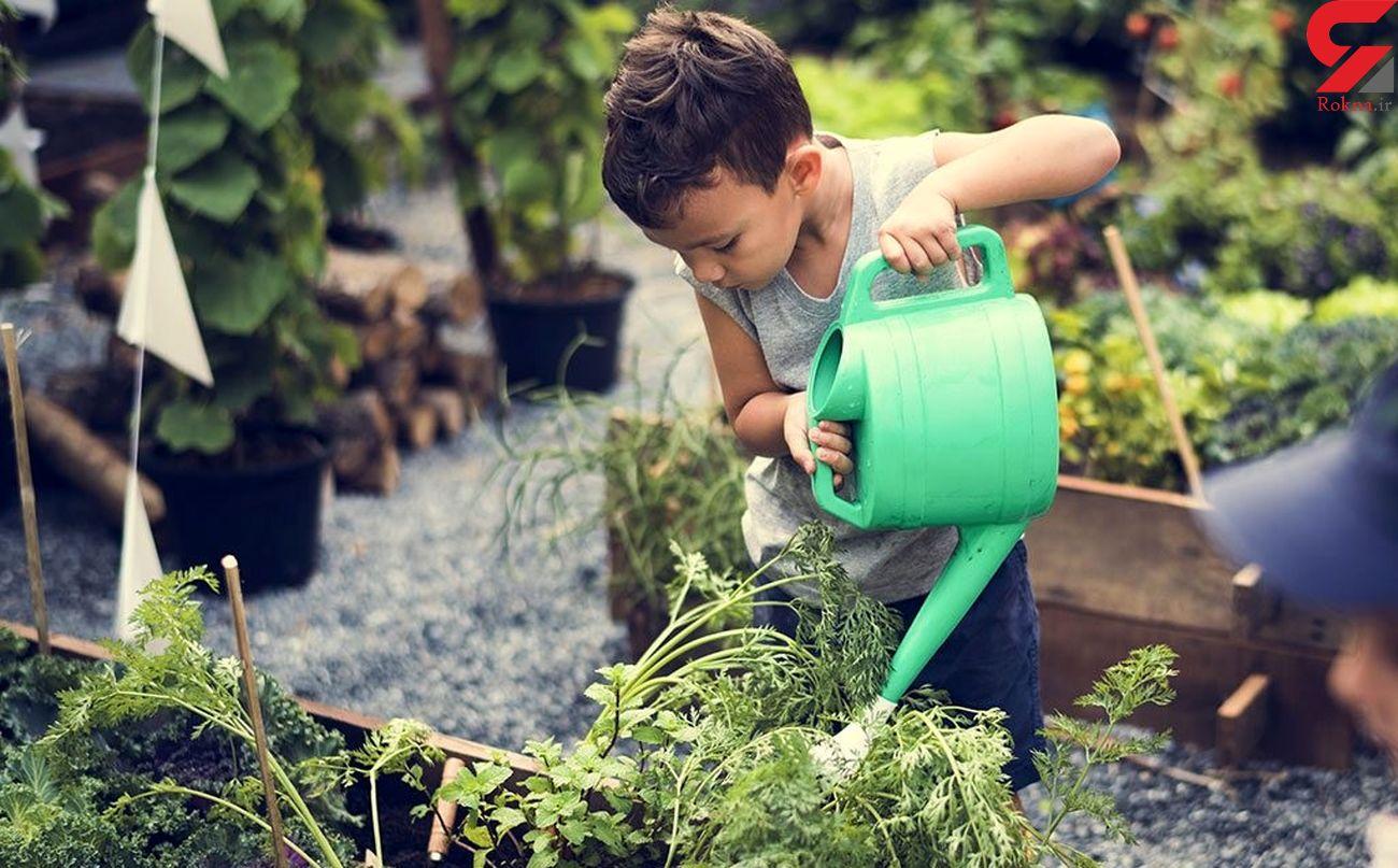 آموزش مهربانی، مسئولیت پذیری و مهارت تفکر با باغبانی به کودکان