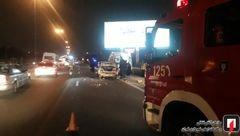 تصادف شدید زن حامله تهرانی با پراید / او بلافاصله به بیمارستان رفت ! + عکس